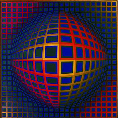 Vega-Nor, 1969. Oil on canvas, (200 x 200 cm), Albright-Knox Art Gallery, Buf...